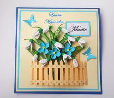 quilling my passion Paper Quilling Cards, Quilling Craft, Quilling Flowers, Quilling Designs, Paper Cards, Handmade Birthday Cards, Greeting Cards Handmade, Flower Cards, Making Ideas
