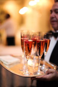Kir Royale -- signature cocktail.