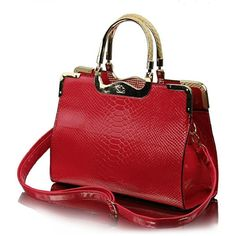 Amazon.com: RW Collections Womens CASSIDY Satchel Shoulder Bag Handbag... (3.595 RUB) ❤ liked on Polyvore featuring bags, handbags, purses, hand bags, red tote bag, satchel purse, handbags purses and red purse