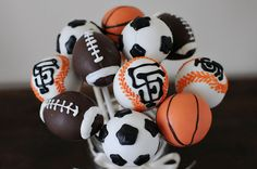 sports balls by Sweet Lauren Cakes, via Flickr