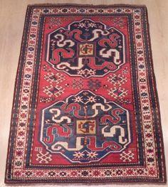 "Antique Caucasian ""Cloudband Kazak"" rug from the village of Chondzoresk in Karabagh"