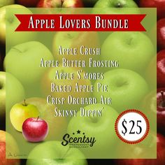 Apple Lovers Bundle - 6-pack for $25 order today at www.smellarific.com. Flyer by Angela O'Hare