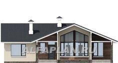 """🏠 """"Яркий мир"""" - одноэтажный дом с высокой гостиной и просторной террасой: цены, планировка, фото. Купить готовый проект House Plans, Shed, Floor Plans, Outdoor Structures, House Design, House Styles, Flooring, How To Plan, Home Decor"""