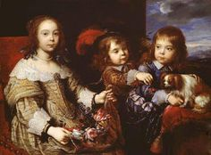 The children of the Duc De Bouillon by Pierre Mignard 1612-1695.
