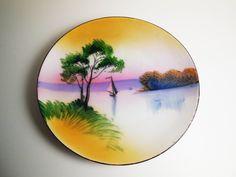 Chikaramachi Japan Decorative Plate - Sailboat - Vintage