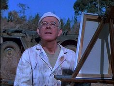 Colonel Potter painting