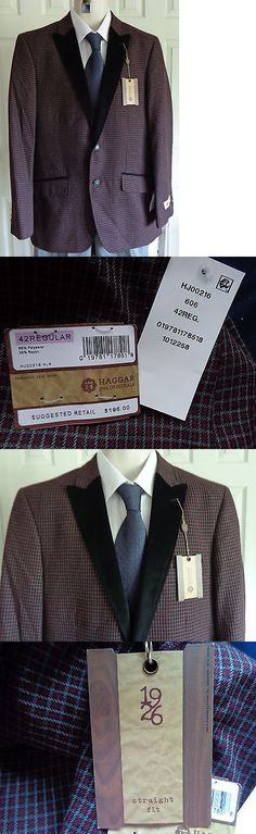 Tuxedo and Formal Jackets 105511: Nwt Haggar 2 Button Sport Coat Jacket Wine Gray Black Velvet Free Tie 42 R -> BUY IT NOW ONLY: $66.98 on eBay!