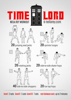 Timelord Workout themed workouts from neilarey.com