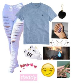 """""""Untitled #152"""" by baby-boogaloo on Polyvore featuring Polo Ralph Lauren, Louis Vuitton and adidas"""