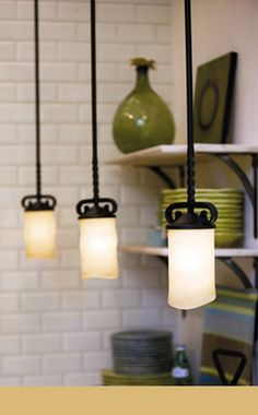 iron drop pendants and other kitchen lighting ideas