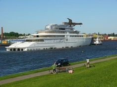 The largest yacht in the world made by Lurssen named Azzam. A Sheik owns it, whoda thought!