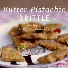 Butter pistachio brittle