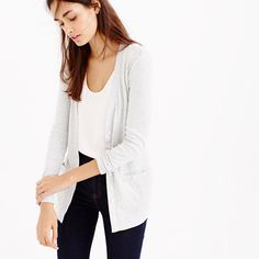 J.Crew - Perfect-fit mixed-tape cardigan sweater (size: XS, color: warm chicory)