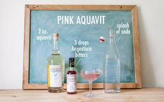The Definitive Summer Bar: Pink Aquavit recipe