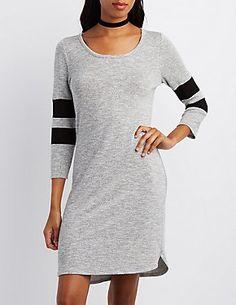 Varsity Stripe Sweater Dress