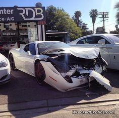 Ferrari 458 Italia crashed in California