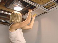 basement drop ceiling lighting options drop ceiling panels into position basement lighting options 1