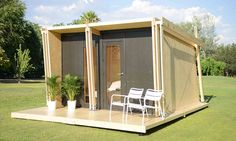 A tiny house that can be assembled in five hours. http://tinyhouseswoon.com/vivood/