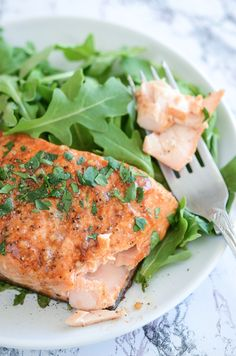 Balsamic Roasted Salmon - easy 30 minute healthy dinner!
