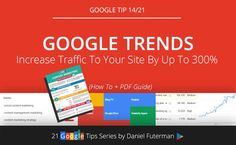 How To Increase Organic Search Traffic By Up To 300% Using Google Trends http://www.danielfuterman.com/dramatically-increase-organic-search-traffic-using-google-trends/
