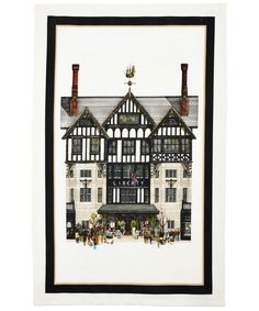 Liberty tea towel – now we can admire the tudor Liberty building from our own kitchen.
