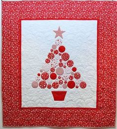 Baubles: a Christmas tree quilt