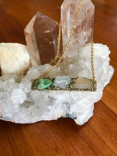 raw birthstone mother's necklace personalized raw crystal jewelry