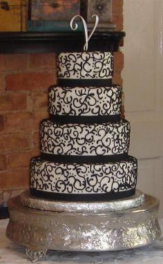 Black wedding cake inspiration Round unique wedding cake designs - Art Eats Bakery Greenville - Spartanburg's SC Premier Cake Boutique