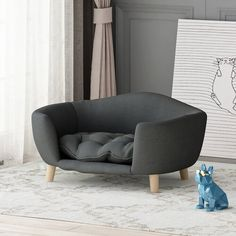 This luxury dog bed will look amazing in your bedroom or living room. This luxury dog bed is cozy and stylish and will make your puppy sleep amazing! Looking for more dog bed ideas? Visit our online shop for Dog Cots, Dog Sofa Bed, Sofa Beds, Cushions For Sale, Dog Furniture, Wood Dog, Types Of Beds, Pet Beds, Sofa Design