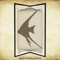 Book folding pattern Fish Pterophyllum for 153 folds - ID0057868