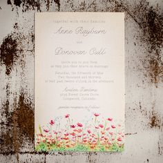 Rustic Wedding Invitation Suite  The Meadow  by inoroutmedia, $2.60