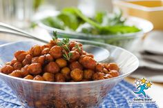 Roasted Curried Chickpeas with Rosemary and Thyme | 2 Guiding Stars