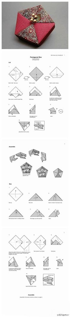 A rather intricate origami box but a beautiful one if you can do it.