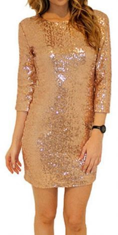 [£ Sequins/Solid Long Sleeves Bodycon Above Knee Sexy/Party Dresses - VeryVoga Sequin Fabric, Sexy Party Dress, Winter Dresses, Dress Winter, Vacation Dresses, Club Dresses, Party Dresses, Pencil Dress, Green Dress