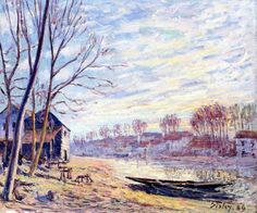 Matrat Cottages - Alfred Sisley
