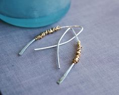 www.BalsamrootJewelry.com  One of my favorite designs, these are very light weight and a fantastic everyday earring. It's time to stand out from the crowd with these fabulous, handmade metal earrings.