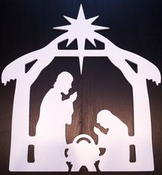 Teak Isle Christmas Window Decoration, Nativity Scene Our Nativity Scene Window decoration is ideal for people in apartments and small houses who don't have Outdoor Nativity Scene, Diy Nativity, Christmas Nativity Scene, Christmas Wood, Christmas Signs, Outdoor Christmas, Christmas Projects, Christmas Ornaments, Nativity Scenes