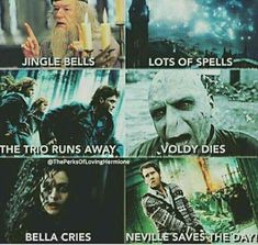 """These """"Top 18 Harry Potter Memes Jingle Bells"""" are so hilarious that will make you Funny and Laughing for whole day.We are sure you will enjoy these """"Top 18 Harry Potter Memes Jingle Bells"""". Harry Potter Humor, Magia Harry Potter, Harry Potter Images, Harry Potter Spells, Harry Potter Cast, Harry Potter Universal, Harry Potter Characters, Funny Harry Potter Pictures, Harry Potter Stuff"""
