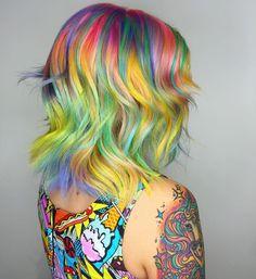 Gorgeous rainbow hair by shelleygregoryhair