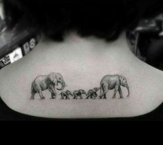 Imagen de elephant, tattoo, and family