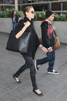 Angelina Jolie Elevates Her Look in High-Low Ensembles