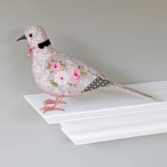 Fabric Bird - COLLARED DOVE - Made to Order