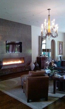 Linear Fireplace Design Ideas, Pictures, Remodel, and Decor - page 3