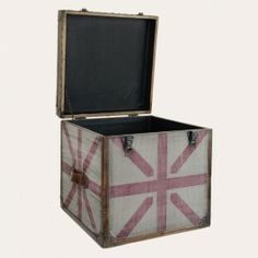 Redcurrent - Square Storage Box with Red Design
