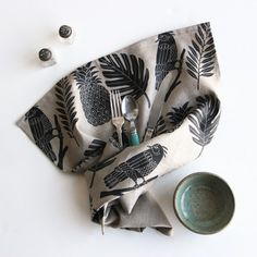 French artist Amelie Mancini's Tropical tea towel, designed and made in Brooklyn | Remodelista