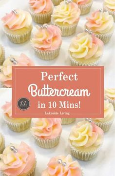 The best vanilla buttercream frosting recipe. The perfect creamy vanilla buttercream frosting recipe. Easy to make vanilla buttercream frosting, perfect for cakes or piping cupcakes Vanilla Frosting Recipes, Cupcake Frosting Recipes, Best Buttercream Frosting, Easy Cake Recipes, Cupcake Cakes, Frosting For Piping, Cupcake Frosting Techniques, Buttercream Frosting For Cupcakes, Homemade Icing Recipe For Cupcakes