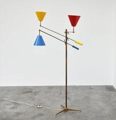 A floor lamp designed by Angelo Lelli for Arredoluce, Italy 1953.