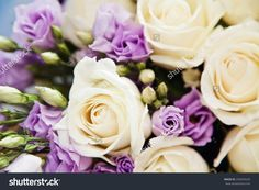 Romantic Bouquet of Flowers | Soft-focus close-up of fresh flowers, roses, beautiful romantic ...