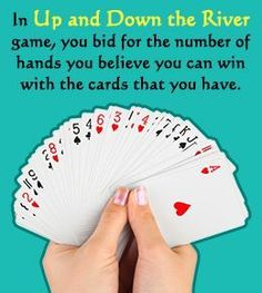 Rules to Play 'Up and Down the River' Card Game- Megan Knutson- Group Card Games, Family Card Games, Fun Card Games, Card Games For Kids, Playing Card Games, Fun Games, Games To Play, Kids Playing, Dice Games