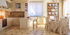 Кухня в деревенском стиле: 60 фото, интерьер, мебель, шторы
